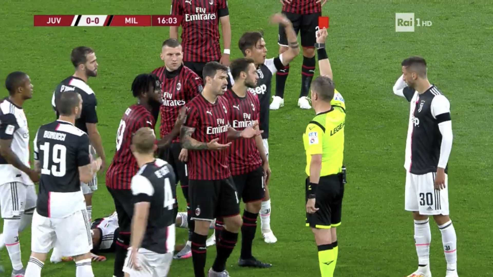 Coppa Italia, Juve-Milan: la rabbia dei rossoneri per l'eliminazione