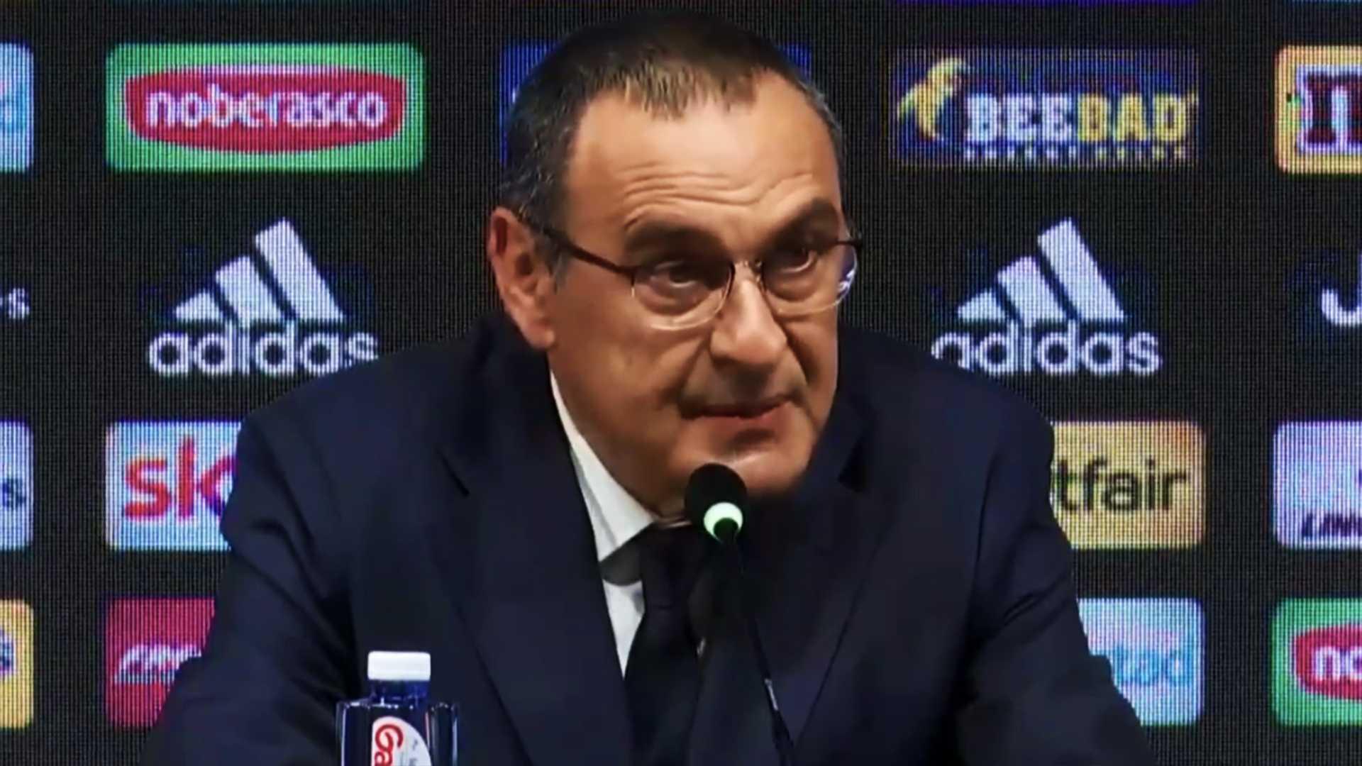 Sassuolo-Juventus, la conferenza stampa di Maurizio Sarri