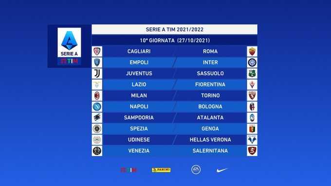 Serie A 2021/2022, il calendario della stagione