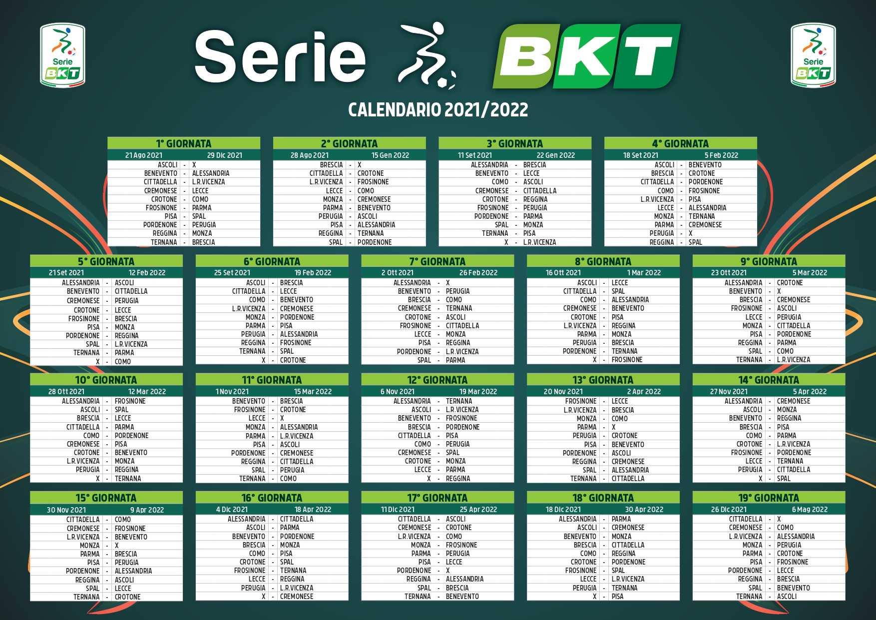 Serie B, stilato a Ferrara il calendario della stagione 2021/22