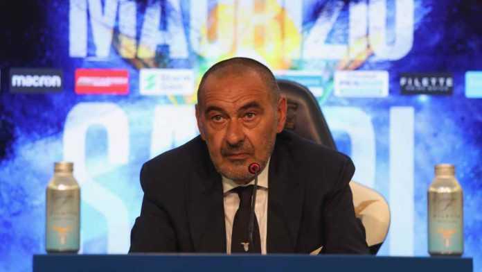Conferenza Lazio Fiorentina Sarri