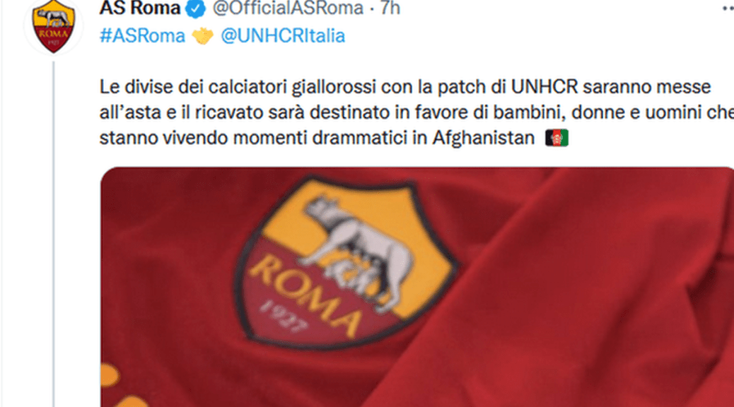 "La Roma nel sociale: da ""Missing children"" all'Afghanistan"